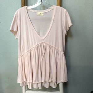 Anthropologie peplum tee